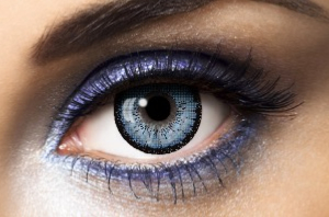 Lentilles de couleur bleue Big Eyes Blue - Fashion Lentilles 1 an