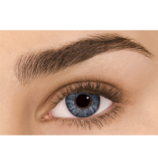 Lentilles de Contact Grises Freshlook Colorblends Sterling Grey - 1 Mois