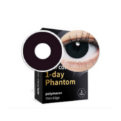 Lentilles fantaisie Clearcolor Phantom Black Out - 1 jour