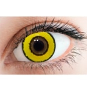 Lentilles fantaisie Soleko Fun & Look Yellow Twilight - 1 Jour