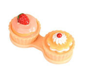 Etuis De Transport Pour Lentilles Cup Cake Orange
