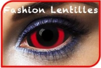 Lentilles Fantaisie Sclera 22mm 010 Black And Red 1 an
