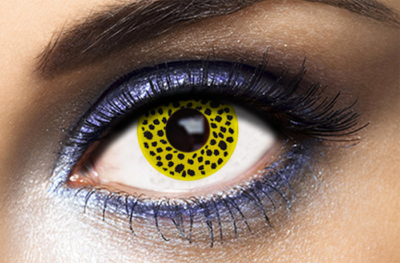 Lentilles Fantaisie Fashion Lentilles Yellow Cheetah - 1 an