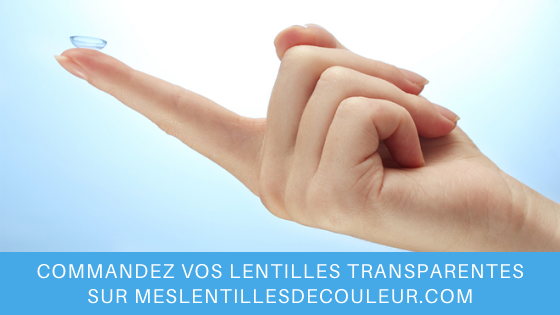 lentilles de contact transparentes correctrices