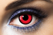 Lentilles Fantaisie rouges Fashion Lentilles Lunatic Red - 1 an