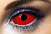 Lentilles fantaisie Sclera rouges All Red 22 mm - 1 an