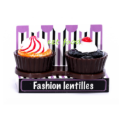 Etuis De Transport Pour Lentills Cup Cake Marron Brown