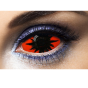 Lentilles fantaisie Sclera rouges Omega Red 22 mm - 1 an