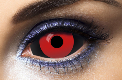 Lentilles Fantaisie Sclera 22mm 011 Red And Black 1 an