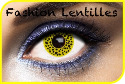 Lentilles Fantaisie Yellow Cheetah 1 an
