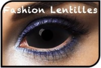 Lentilles Fantaisie Sclera 22mm 006 all black 1 an