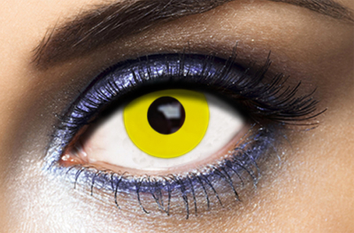 Lentilles Fantaisie Yellow Out Jaunes Fashion Lentilles - 1 an