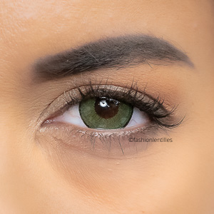 Lentilles Fantaisie vertes Fashion Lentilles Big Eyes Green - 1 an