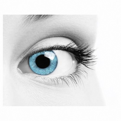 Lentilles de contact multifocales Soleko Queen's Solitaire Light Blue - 3 mois