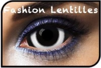 Lentilles Fantaisie Sclera 22mm 007 Black And White 1 an