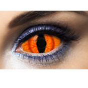 Lentilles de Couleur Orange Fantaisie Sclera 22 mm Shadowcat - 1 An