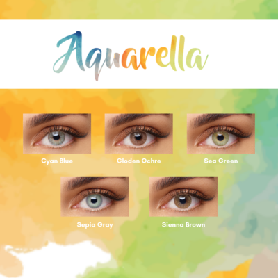 Nouvelle Collection de Lentilles Solotica Aquarella